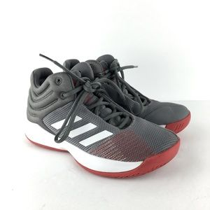 Adidas Pro Spark Gray Basketball Sneakers Size 4
